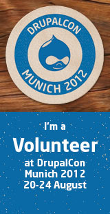 DrupalCon Munich 2012 - I am Volunteering!
